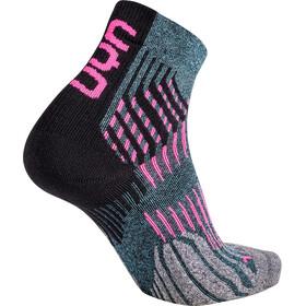 UYN Run Shockwave Calze Donna, grigio/rosa